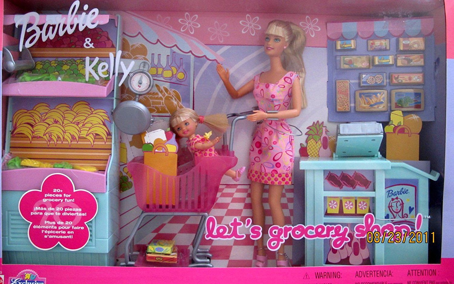 Barbie Kelly Let S Grocery Shop 27 Piece Playset Toys R Us Exclusive 2002 Playsets Amazon Canada Barbie Playsets Barbie Kelly Barbie