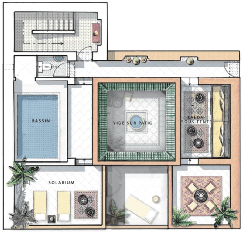 privilege ri maison marocplans - Plan D Une Maison Marocaine