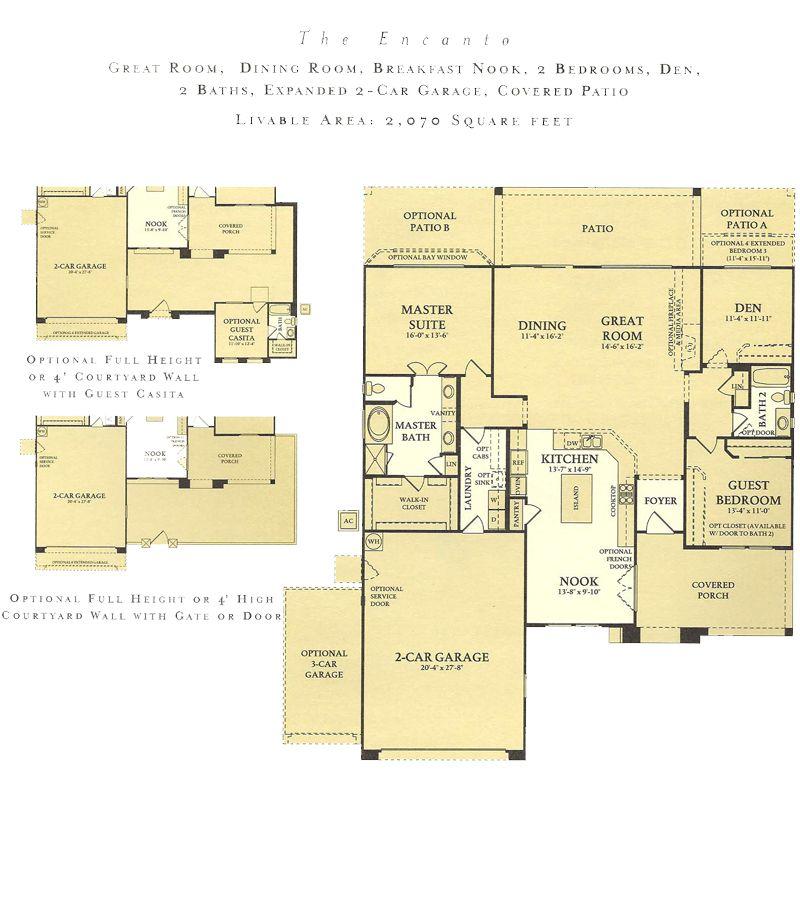 Corte Bella Encanto floor plan model new home plans Pinterest - new blueprint for 3 car garage