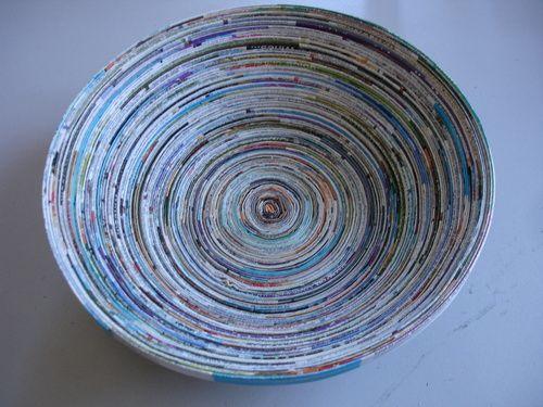 mit papier basteln magazine bowl selber machen basteln pinterest papier basteln selber. Black Bedroom Furniture Sets. Home Design Ideas