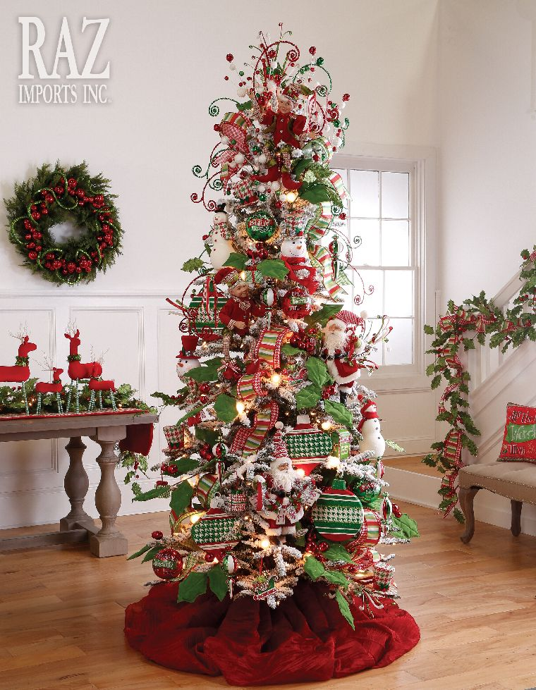 Holly Houndstooth Whimsical Christmas Trees Christmas Tree Christmas Tree Design
