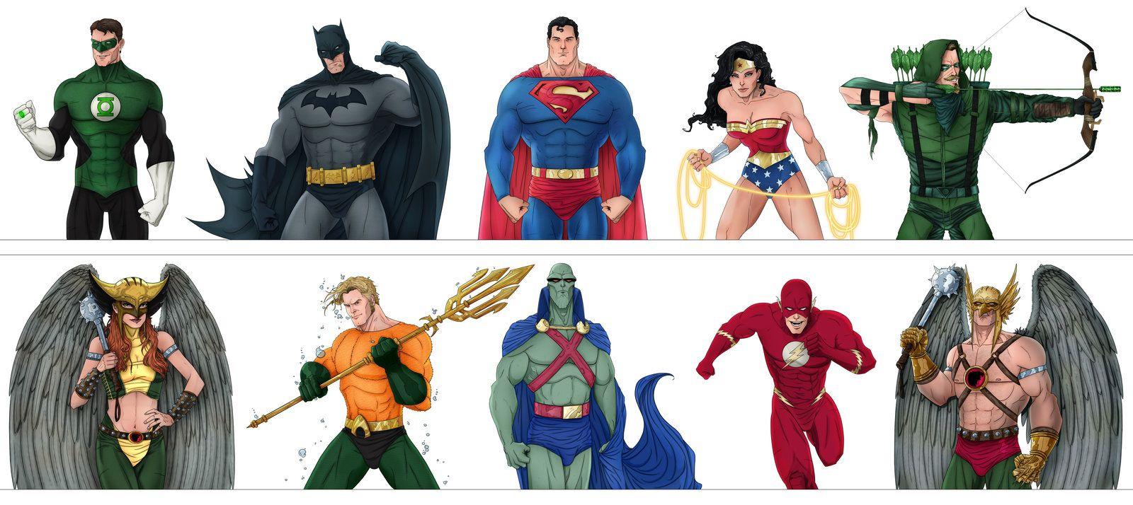 Dc Set 1 Justice League By Slewis18 Deviantart Com On Deviantart Justice League Superhero Comic League