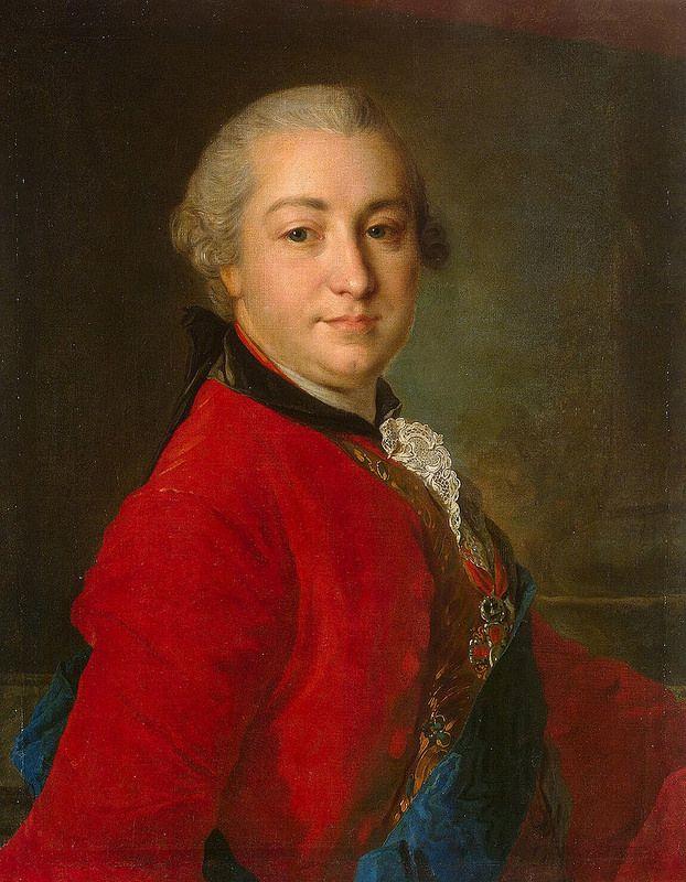 Rokotov Fyodor - Portrait of Count Ivan Ivanovich Shuvalov - JRX-275   da Faces of Ancient Europe