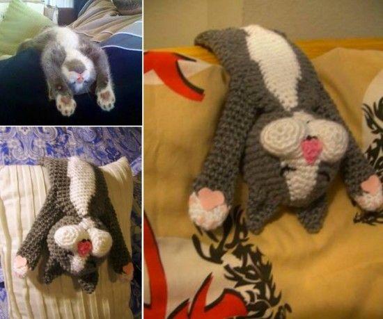 Laid Back Cat Crochet Pattern Is Adorable | Flores de ganchillo ...