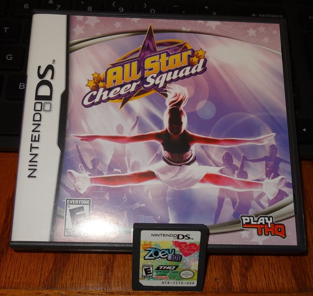 Nintendo Ds All Star Cheer Squad Zoey 101 Game Chips Lot Of 2 Games Kh Nintendo All Star Cheer Cheer Squad Cheer