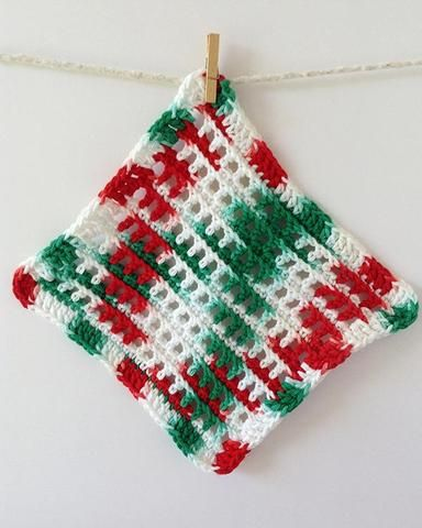 Christmas Dishcloths Set Crochet Pattern | Pinterest | Topflappen