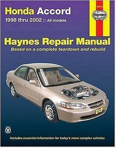 honda accord 1998 2002 all models haynes repair manuals jay rh pinterest es Usuario Avatar Usuarios Internos