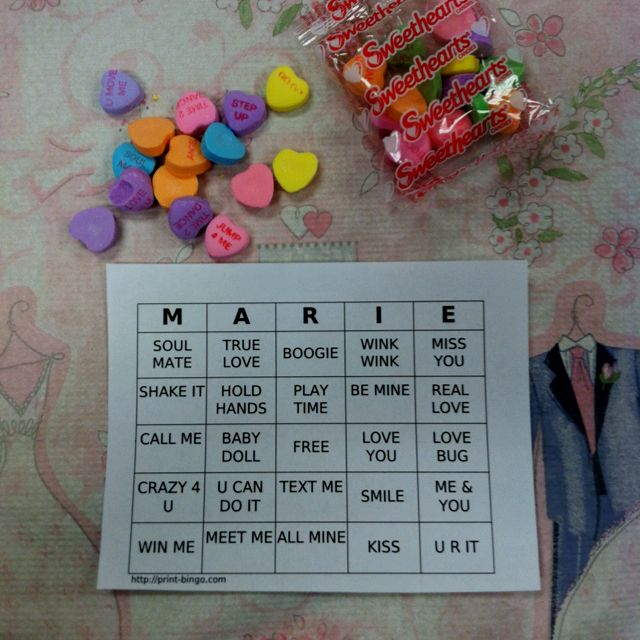 Fun way to play 'BINGO' at a bridal shower or bachelorette party.