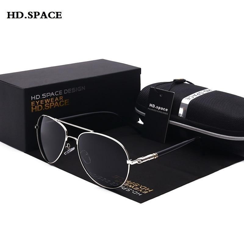 Rétro Classique pour Homme Fashion aviateur en métal Vintage Designer Large Lunettes De Soleil Noir