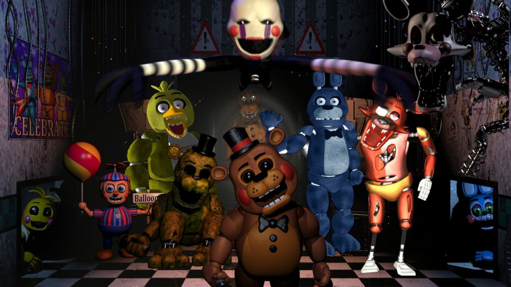All Of The Animatronics In Five Nights At Freddy S 2 Sorry That