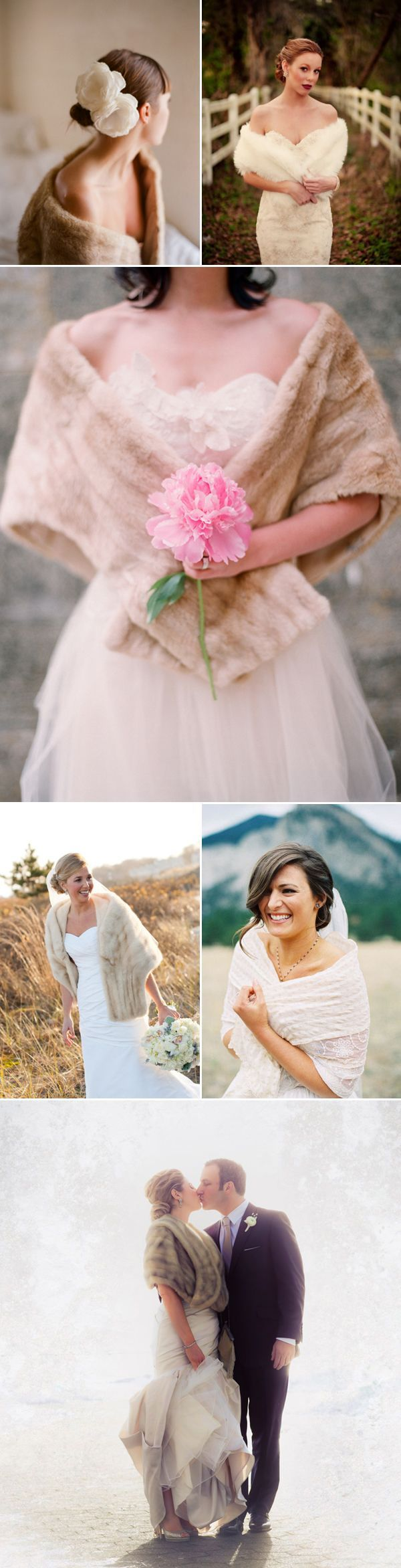 Itus important for winter brides to consider a warm cover up option