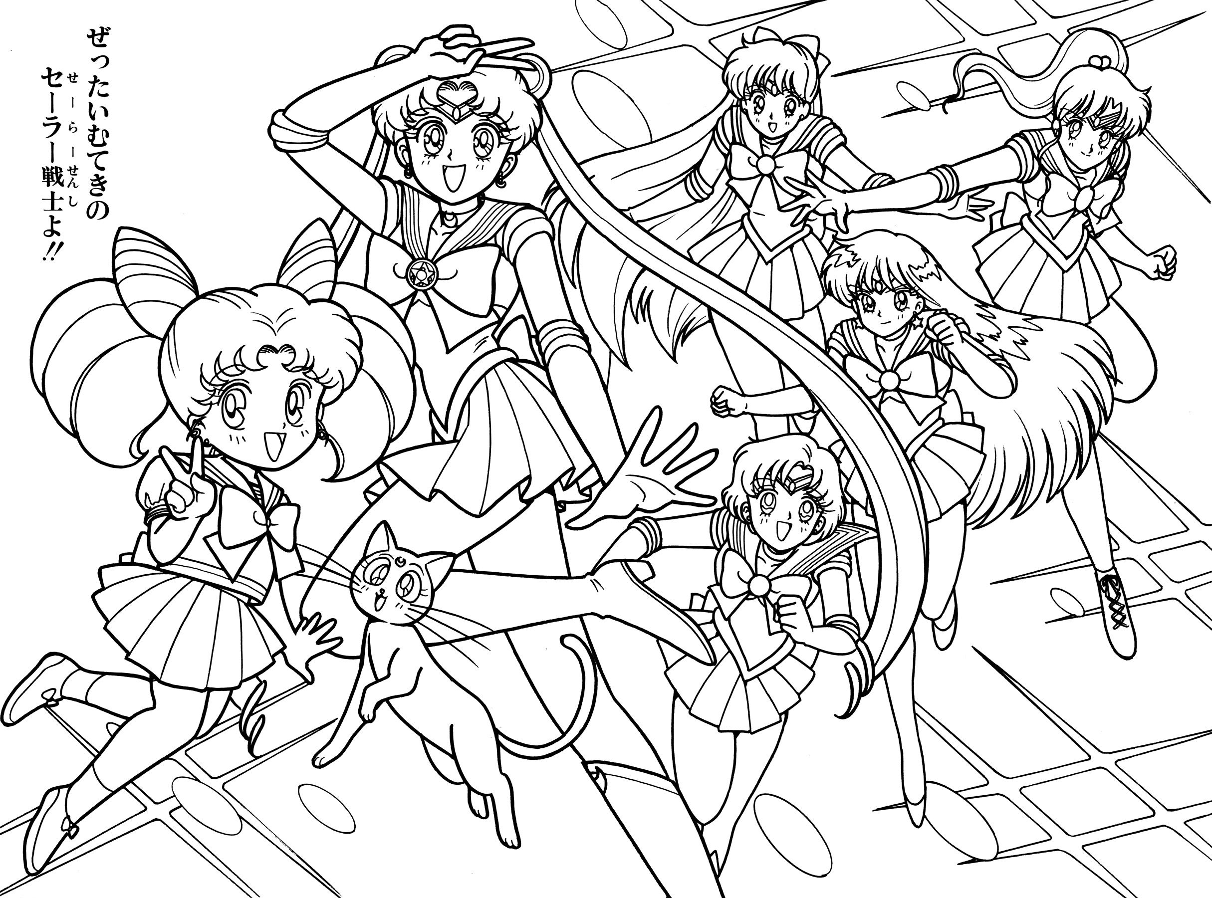 sailor chibi moon, luna, sailor moon, mercure, venus, mars, jupiter ...