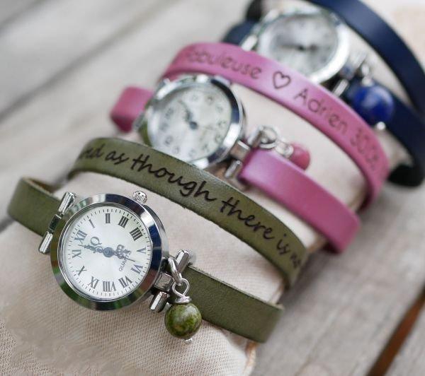 bracelet cuir pour montre femme