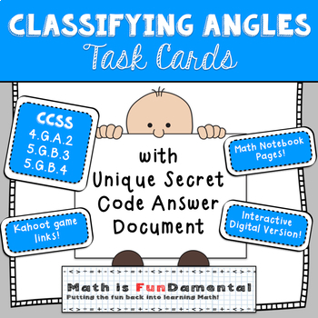 Classifying Right, Obtuse, and Acute Angles Task Cards
