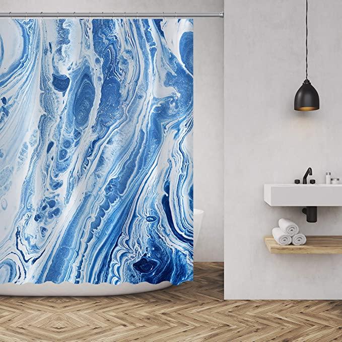 Amazon Com Shower Curtain Marble Ink Texture Luxurious Graphic Print Polyester Fabric Bathroom Decor Sets With Hoo Bathroom Decor Sets Curtains Bathroom Decor