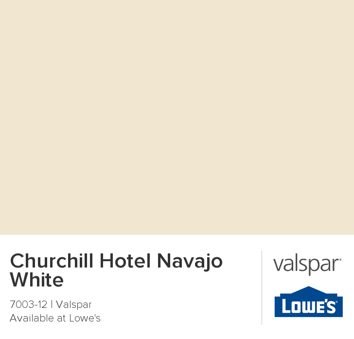 Churchill hotel navajo white from valspar new home for Navajo red benjamin moore