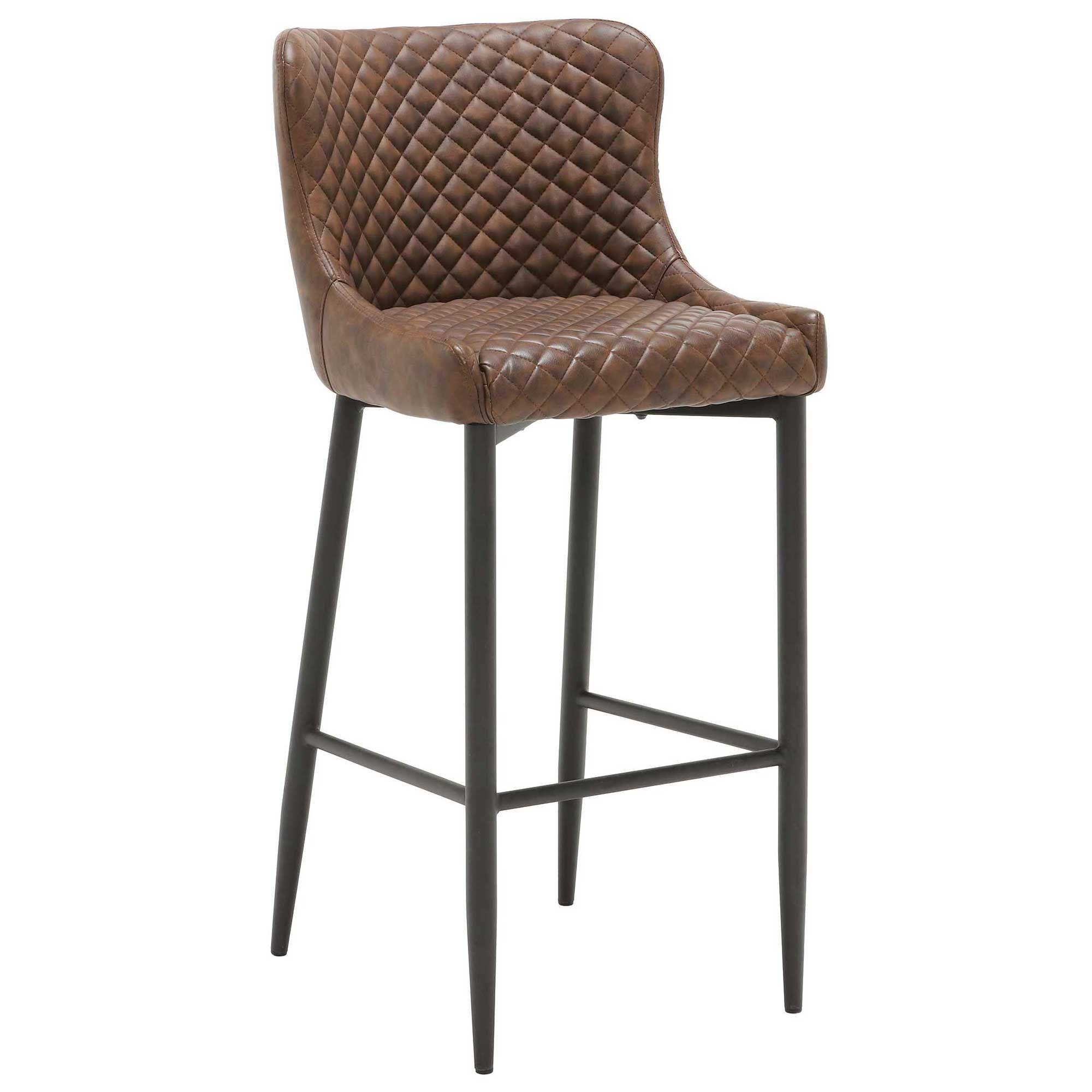 rivington faux leather kitchen bar stool  barker