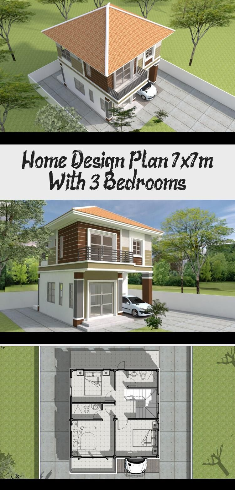 House Design 12 5x10m With 3 Bedrooms Bungalow House Design Architectural House Plans House Plans Mansion