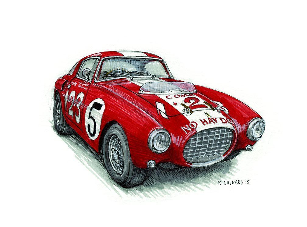 "Alfa Romeo Sport Super Race Car Art Wall Poster 24/""x13/""  006"