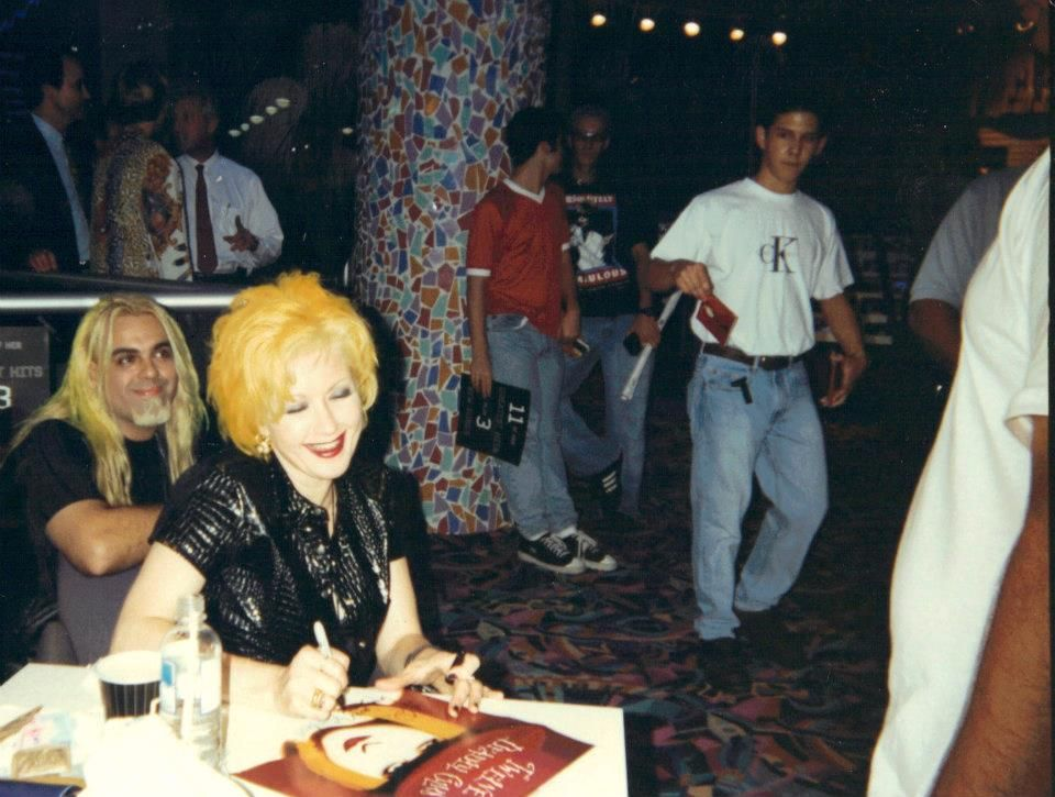 This was the first time I met Cyndi Lauper in Miami, FL