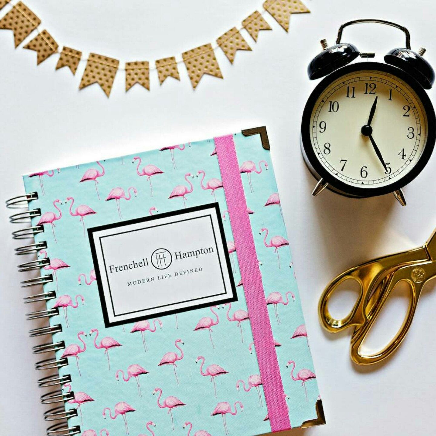2016 daily planner and agenda. Flamingos