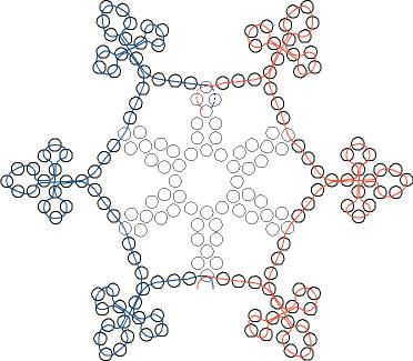 1228068295 Schneeflocke 2 Jpg 372 325 Pixel Christmas Bead Christmas Tree Beads Christmas Ornament Pattern