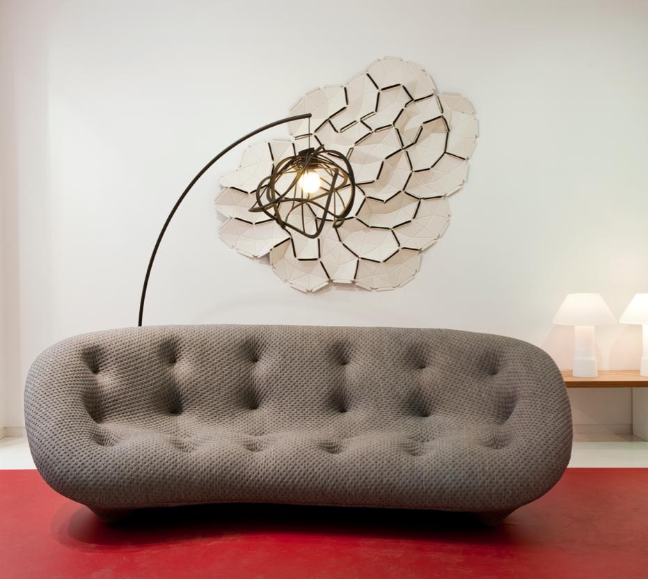 Canape Ploum Gris Des Bouroullec Chez Ligne Roset Design Sofa