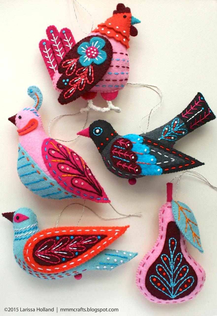 Los p jaros de fieltro de mmm crafts cosas hermosas para - Cosas de fieltro ...