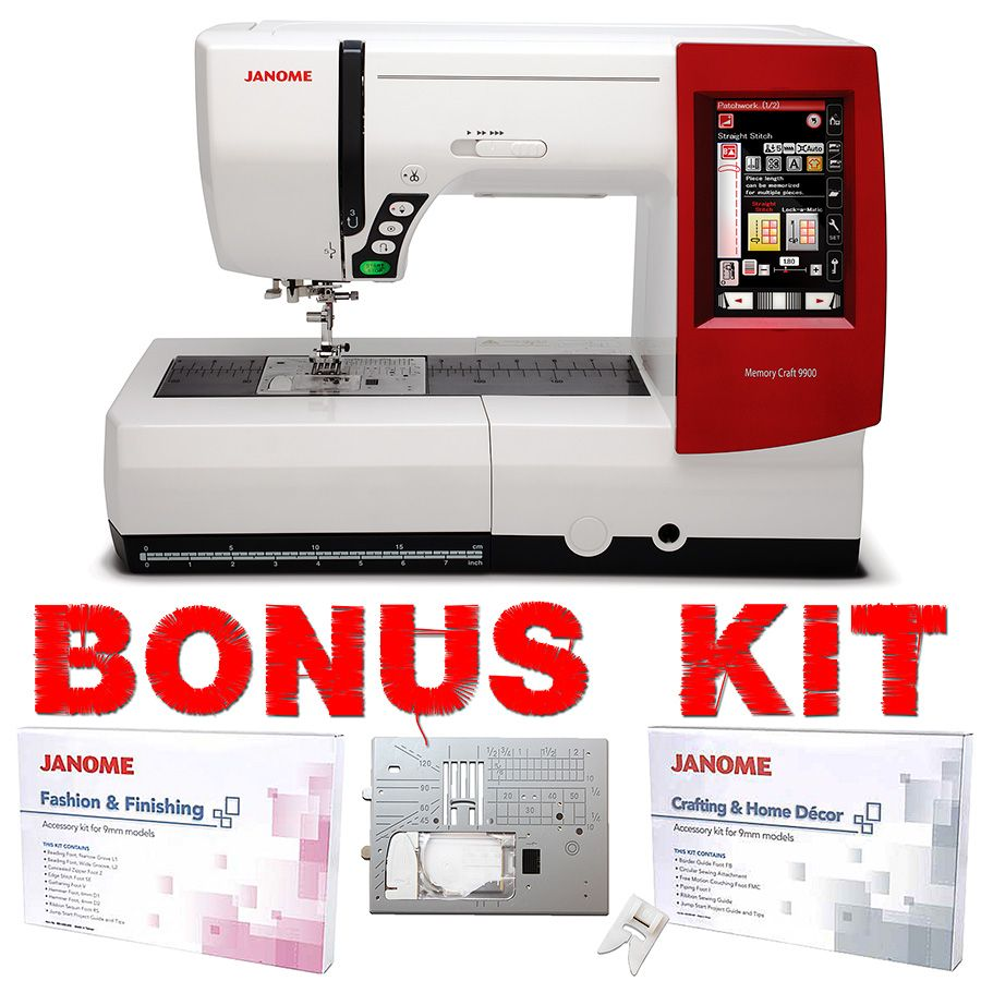 Janome Memory Craft 9900 Sewing & Embroidery Machine | Sewing Room ...