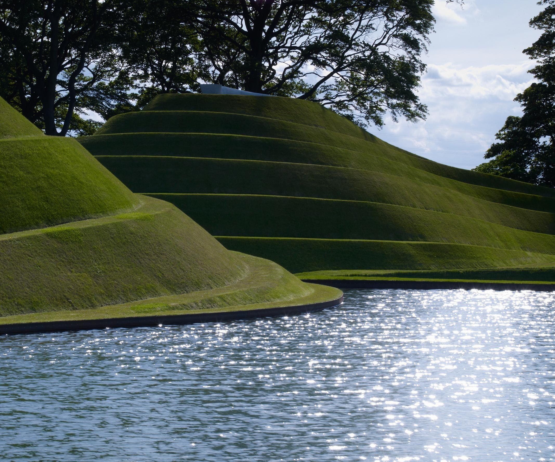Charles Jenks - Cells of life, Jupiter Artland, Kirknewton, Edinburgh, Scotland (2003-2010)