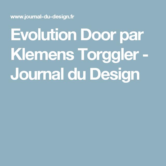 Evolution Door par Klemens Torggler   Evolution, Doors and Journal