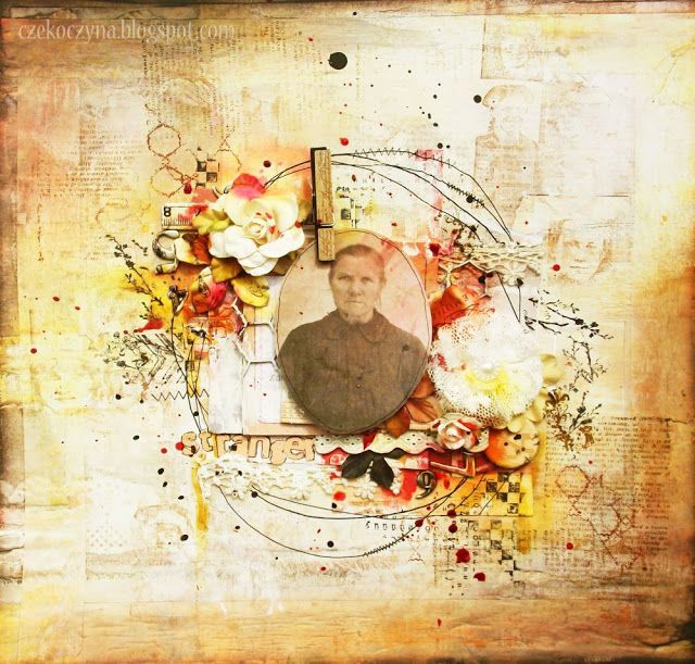 7 Dots Studio day! Simply awesome mixed media with a vintage photo