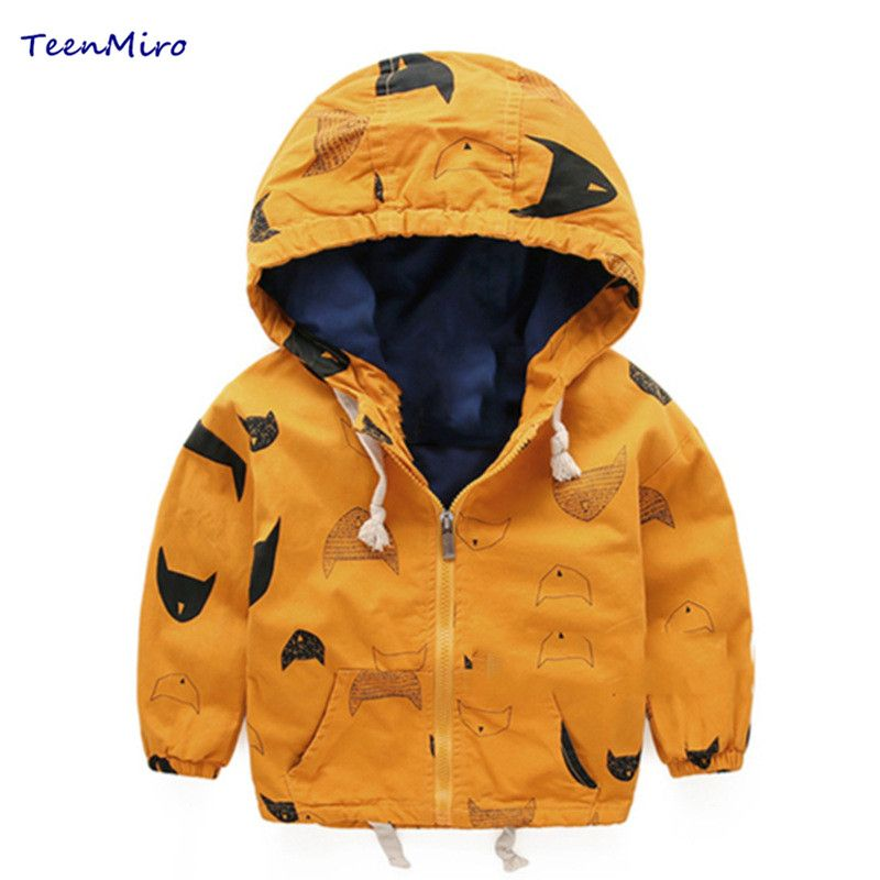 0a3f1e17d6e5 Hooded children windbreaker Spring Boys Jacket Coat Baby boy Clothes ...