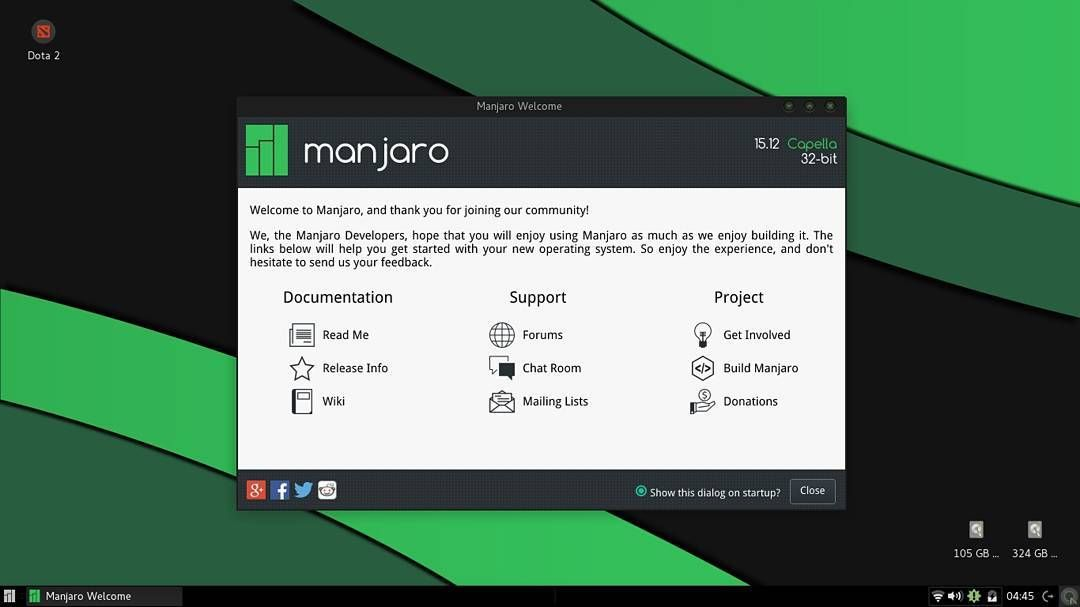 My #manjaro #linux first time and I really excited the best