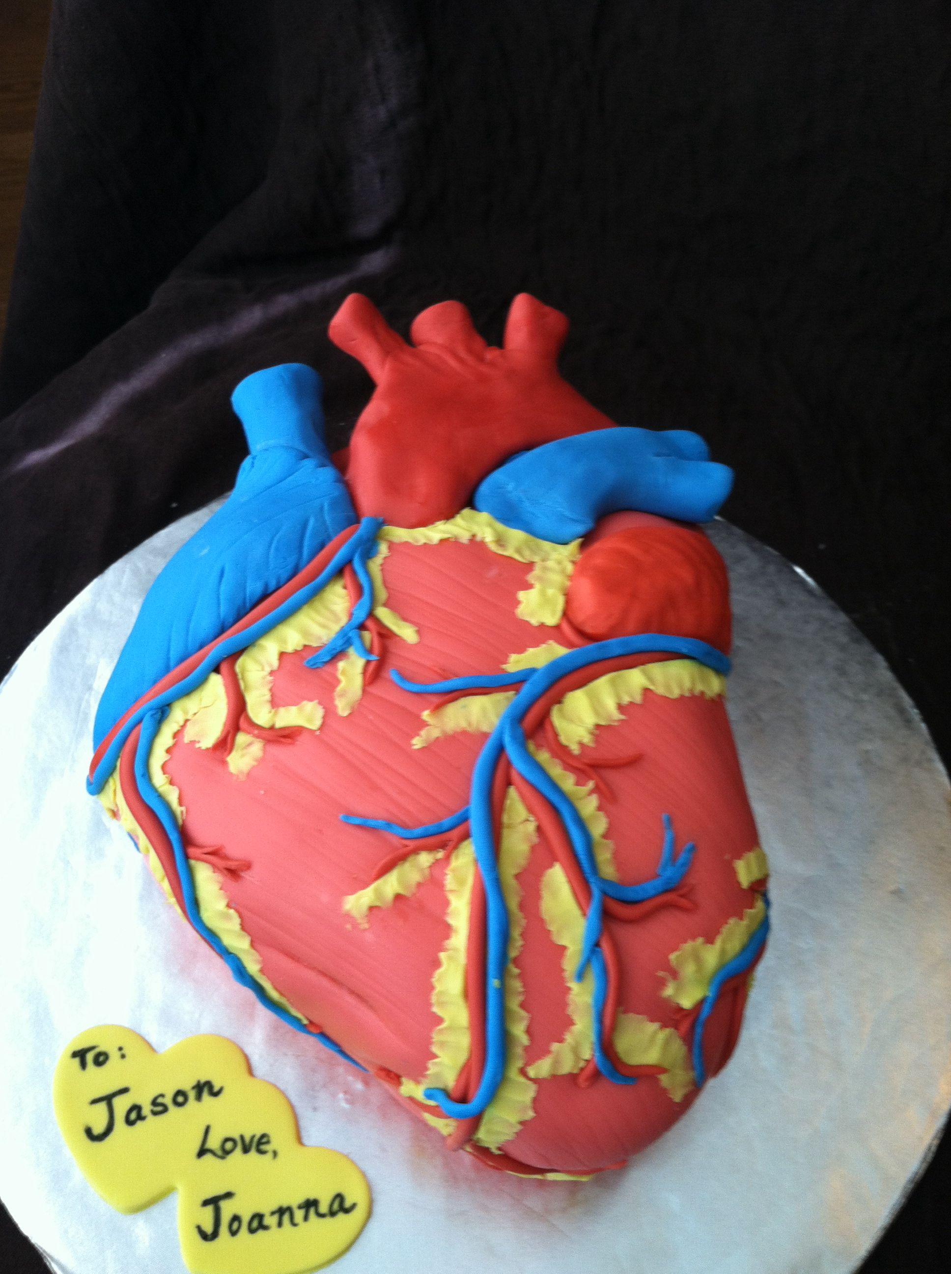 anatomical heart cake cakes in 2019 cake medical cake heart cakes