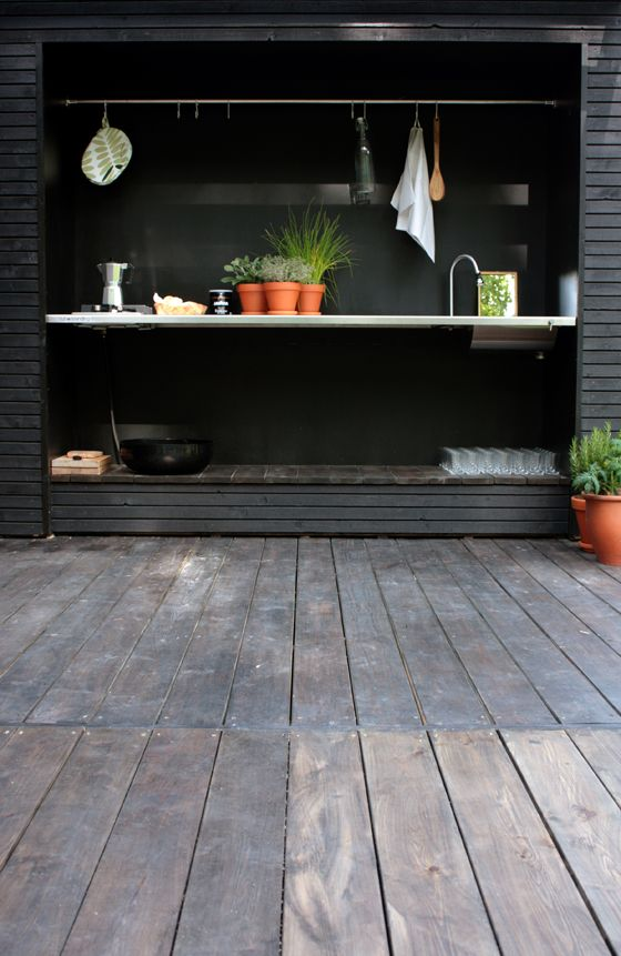 A kitchen for the back shed.