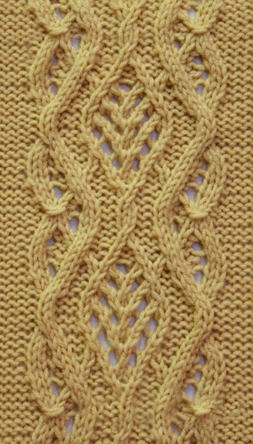 Lace Cable Stitch Pattern | tejido en 2018 | Pinterest | Tejido