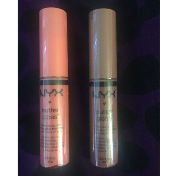 NYX butter gloss 2 for $6. Never used. NYX Makeup Lip Balm & Gloss