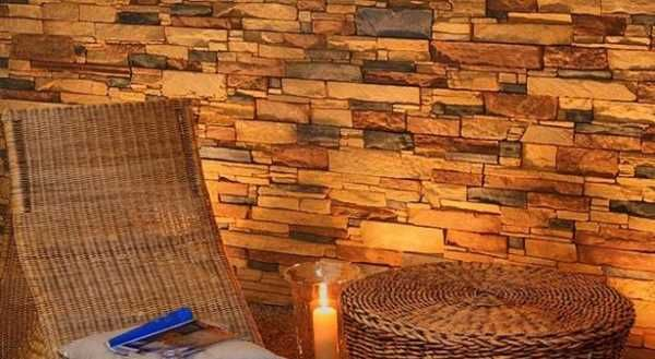 Attractive Interior Wall Decorating With Stone Tiles