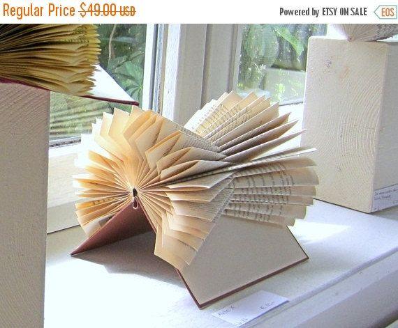 Book Sculpture The X Files Folded Book Art Art Du
