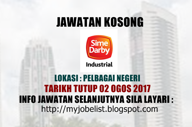 Jawatan Kosong Di Sime Darby Industrial 02 Ogos 2017 Industrial Darby Job