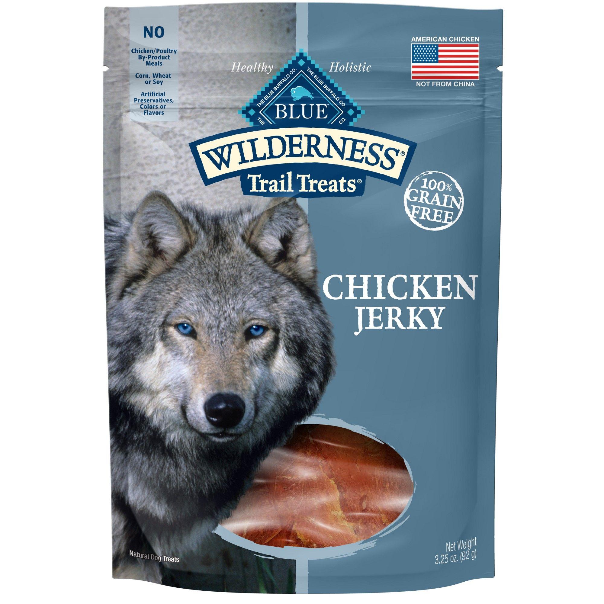 Blue Buffalo Wilderness 100 Grain Free Chicken Jerky Dog Treats