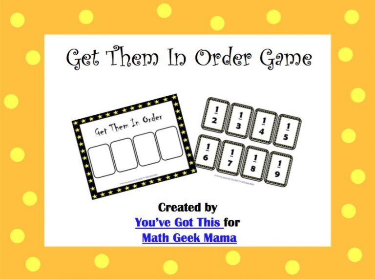 picture about Comparing Fractions Game Printable identified as Totally free Take Them in just Purchase: Evaluating Fractions Activity math
