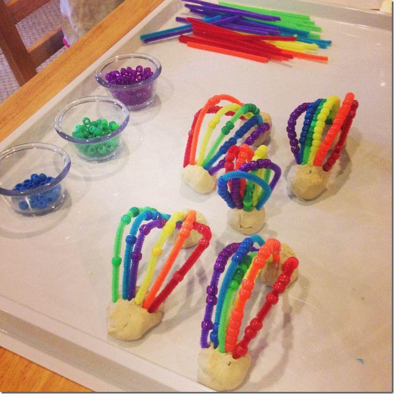 rainbow montessori preschool lucky leprechauns and rainbows crafts colors and ponies 454