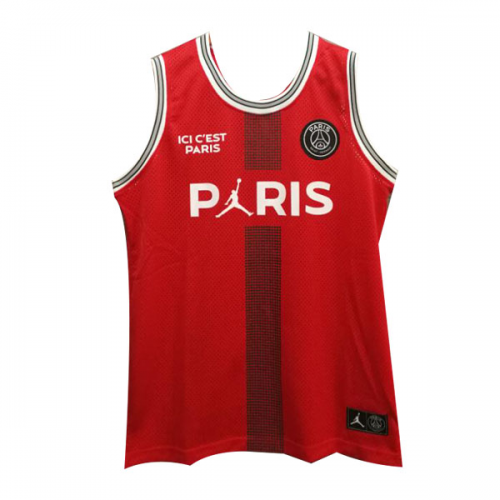 62eeb782ce30 PSG×JORDAN Red Basketball Jersey Shirt