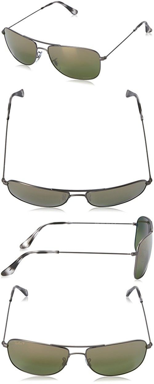d7ba08e029 Ray-Ban Unisex RB3543 Chromance Polarized Aviator Sunglasses ...