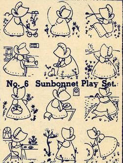 Embroidery Transfers Sunbonnet Sue Quilt Depression1930 ... : sunbonnet sue quilt blocks - Adamdwight.com
