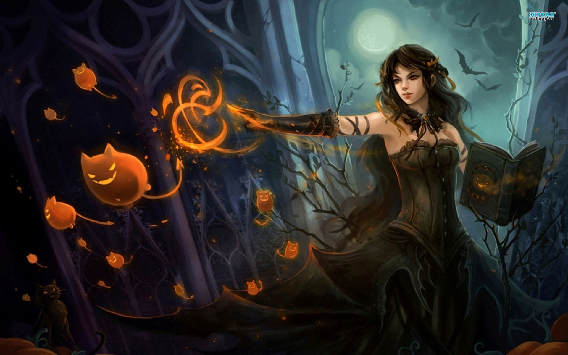 Witchcraft Wallpaper Witch wallpaper Fantasy