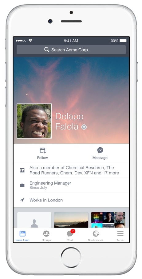 Facebook At Work Signs Up Its Biggest Business Yet 100 000 Workers At The Royal Bank Of Scotland Techcrunch Big Business Work Networking Social Network