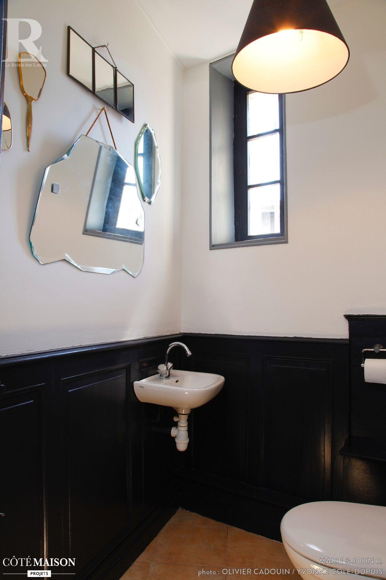 Accessoires Salle De Bain Charme ~ toilettes en noir et blanc avec quelques accessoires d co design
